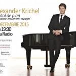 Afiș Concert Alexander Krichel la Sala Radio 2015