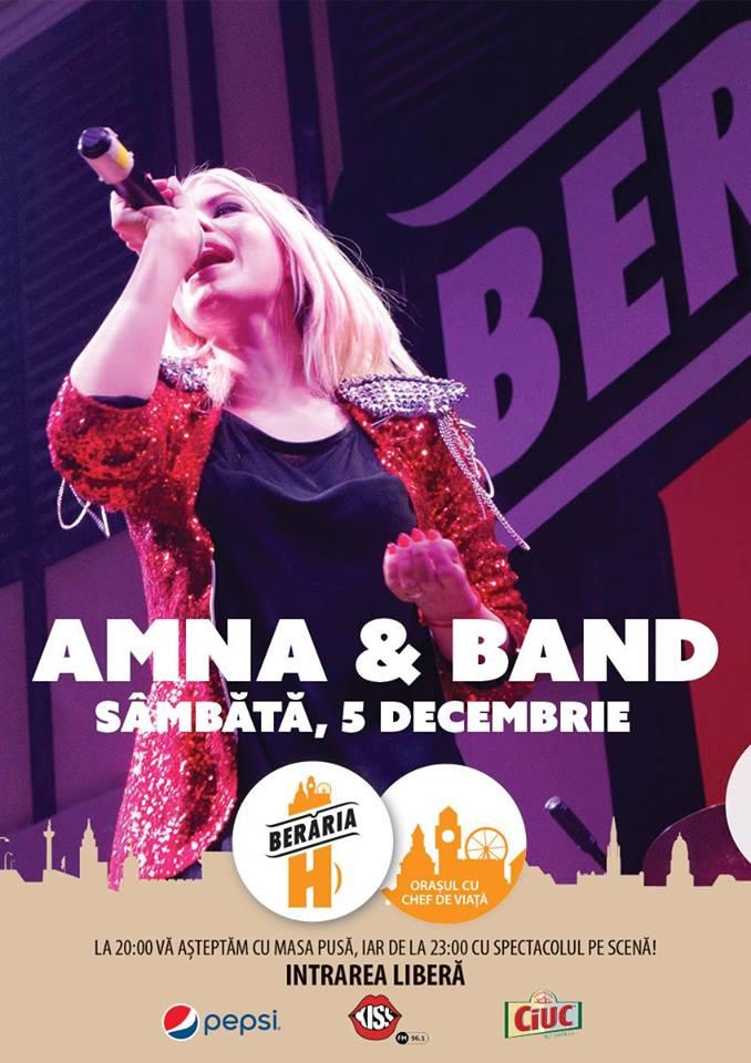 Afiș Amna Concert Berăria H 2015