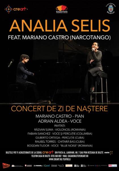 Afiș Concert Analia Selis Teatrelli 2015