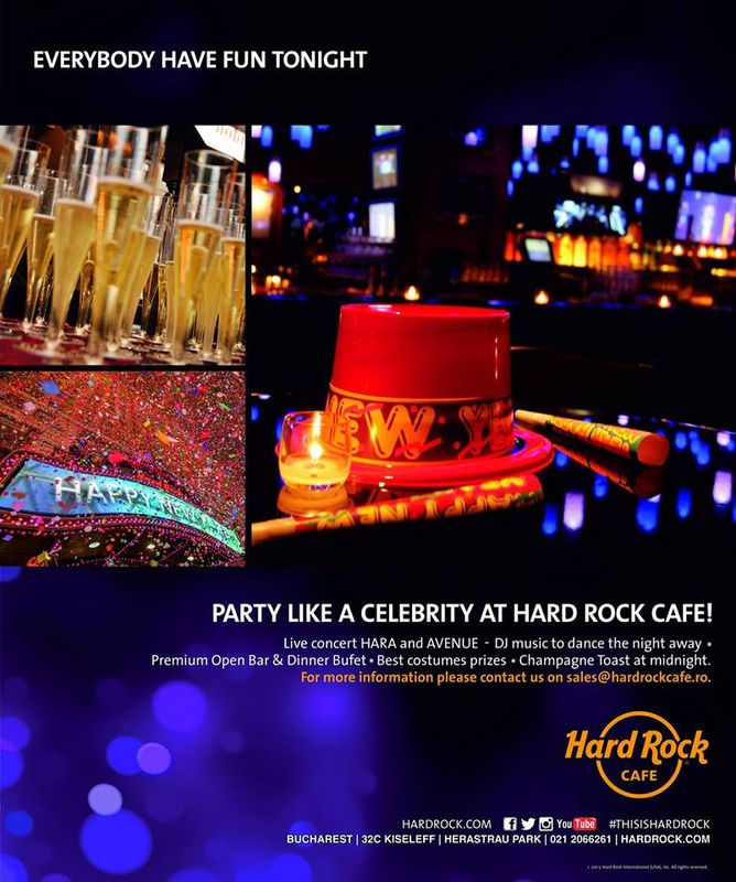 Afiș Celebrity Rocks Revelion Hard Rock Cafe 2016