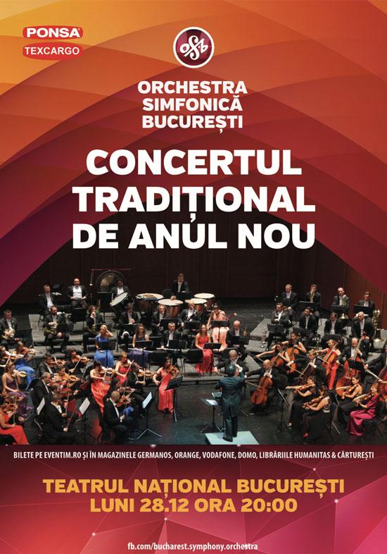 Afiș Concert Tradițional de Anul Nou 2015