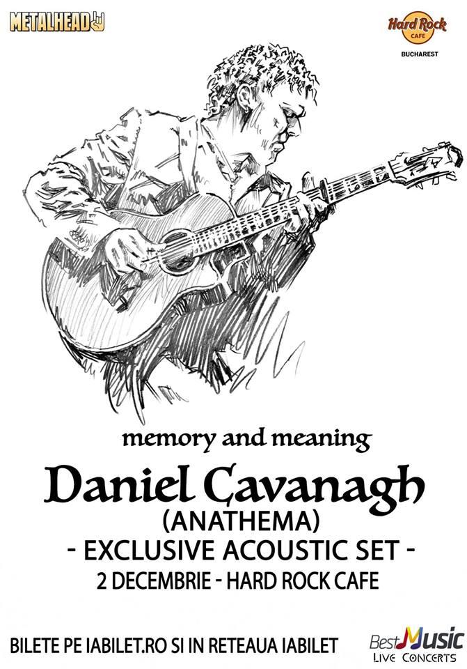 Afiș Daniel Cavanagh Concert Hard Rock Cafe 2015