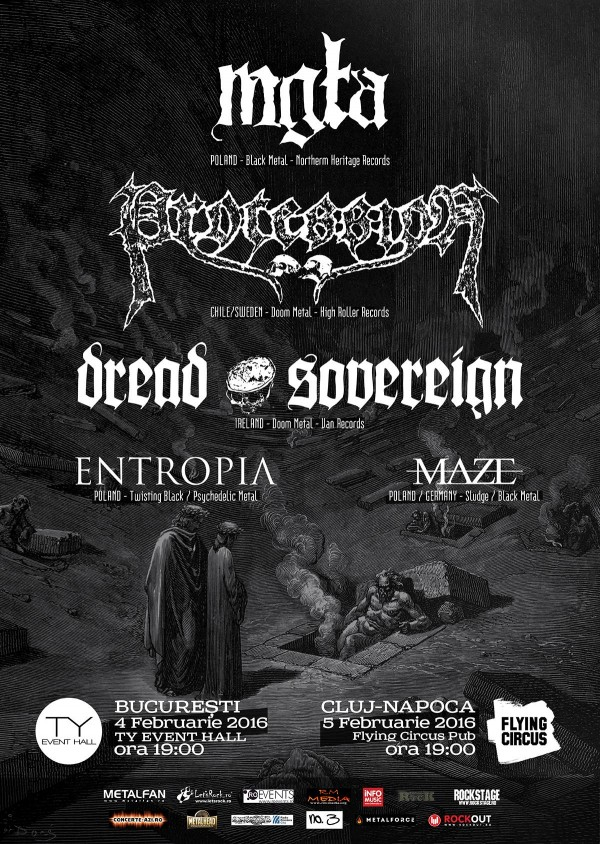 Mgła, Procession, Dread Sovereign, Entropia și Maze la Flying Circus