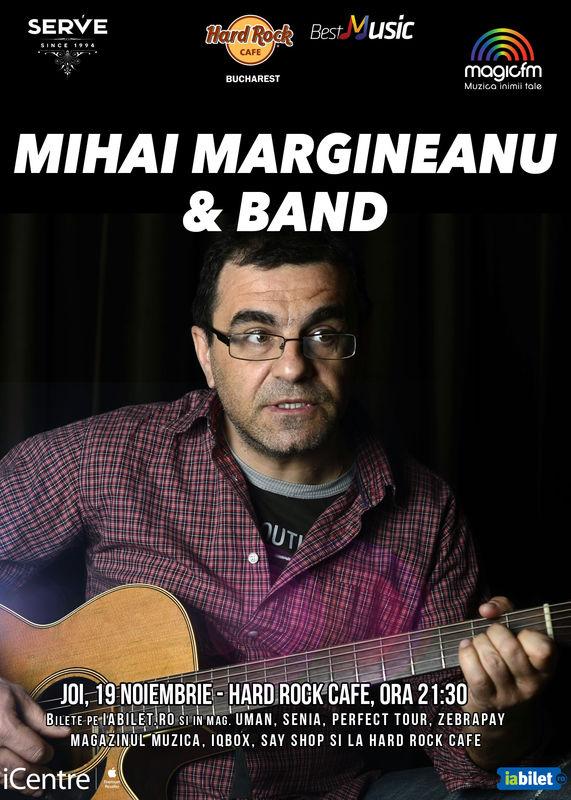 Afiș Mihai Mărgineanu Concert Hard Rock Cafe 2015