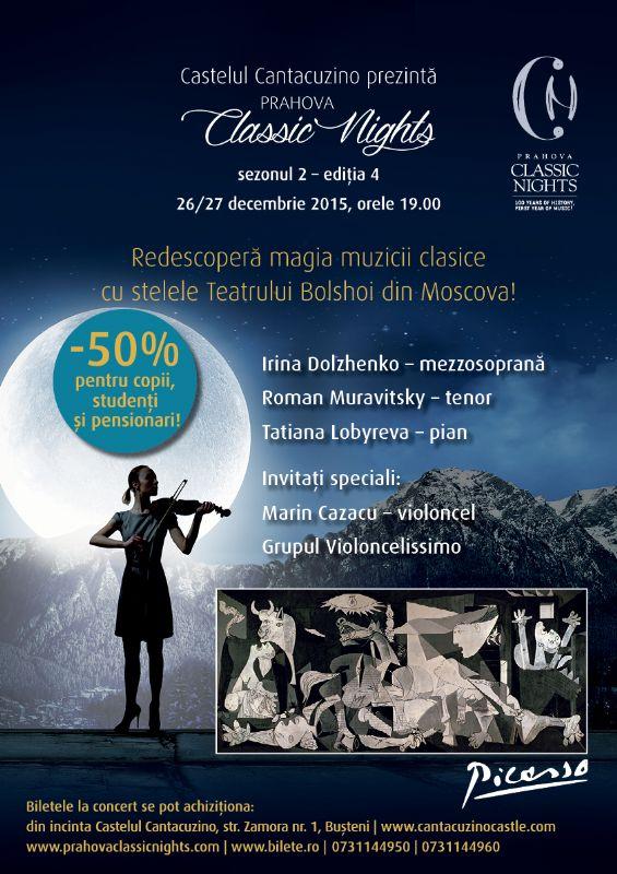 Afiș Prahova Classic Nights Castelul Cantacuzino 2015