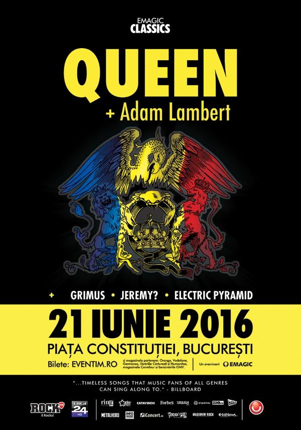 QUEEN + Adam Lambert la Piața Constituției