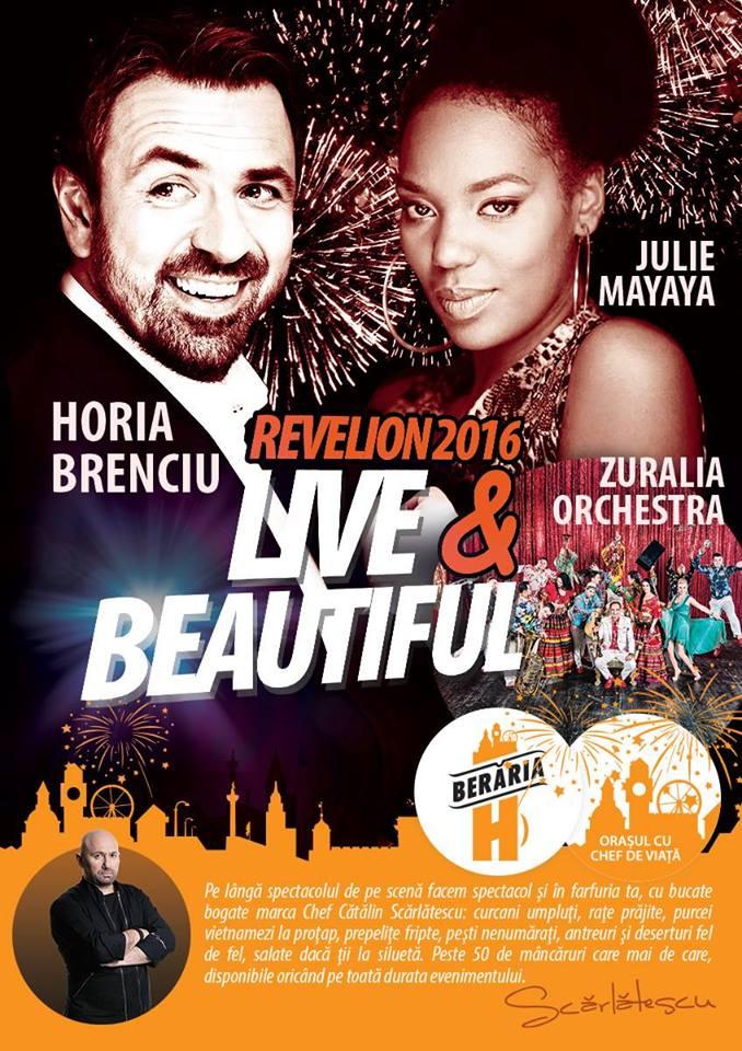 Afiș Revelion 2016 cu Horia Brenciu la Berăria H