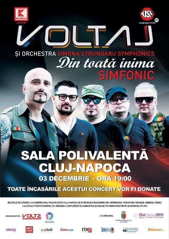 Afiş Voltaj Concert Simfonic Cluj Napoca 2015