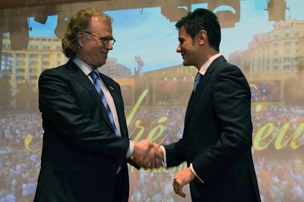 André Rieu a primit titlul de Ambasador Onorific al Bucureștiului