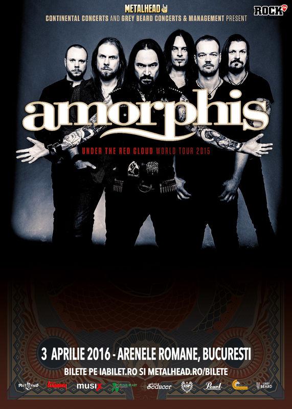 Afiș Amorphis Concert Arenele Romane 2016