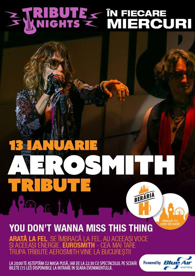 Aerosmith Tribute la Berăria H, 2016
