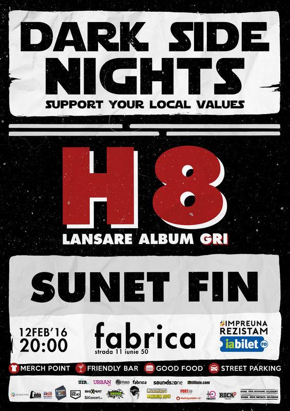 Concert H8 în Club Fabrica, 2016