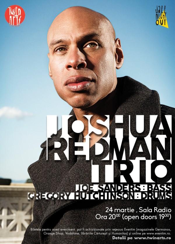 Concert Joshua Redman Trio la Sala Radio, 2016
