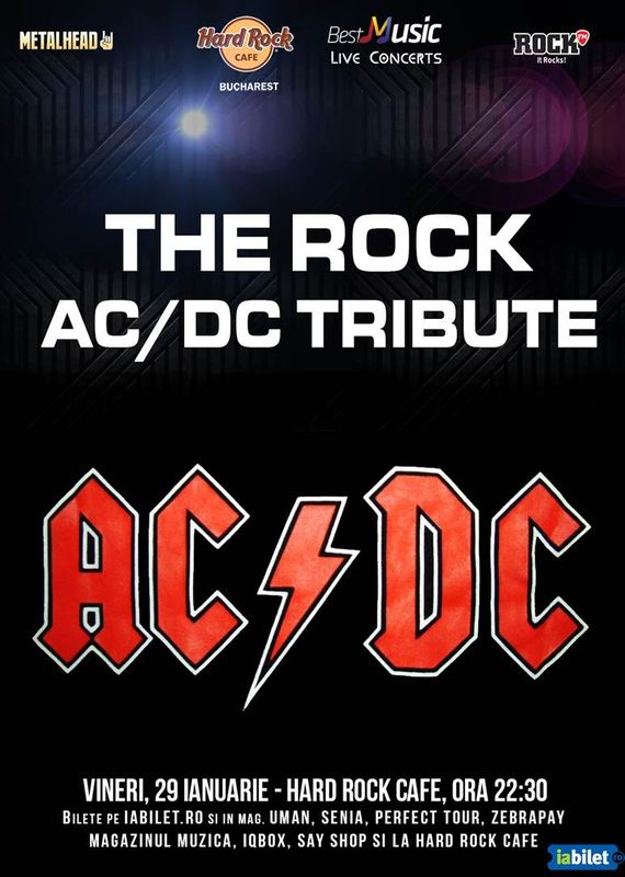 Concert tribute AC/DC cu The R.O.C.K. la Hard Rock Cafe București, 2016