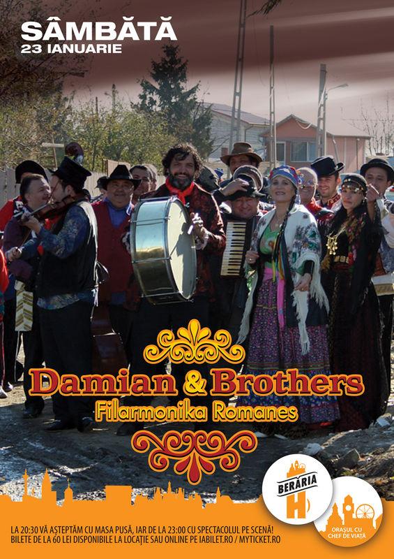 Concert Damian & Brothers la Berăria H, 2016