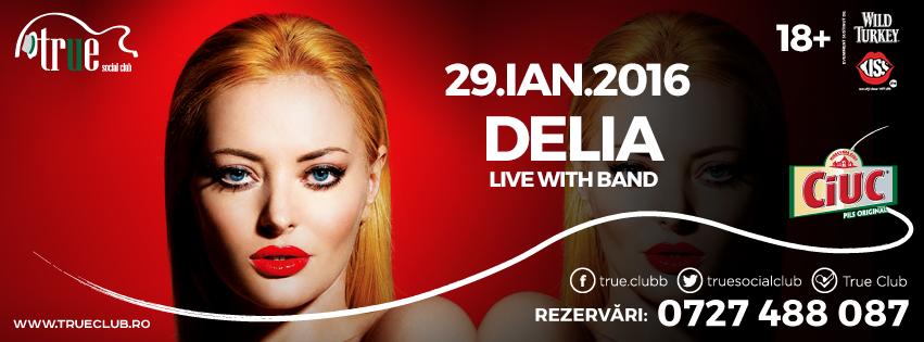 Afiș Delia Concert True Club 2016