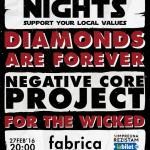Afiș Diamonds Are Forever Concert Fabrica 2016