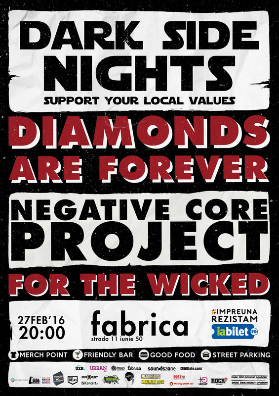 Afiș Diamonds Are Forever Concert Fabrica 2016