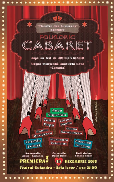 Afiș Folkloric Cabaret Spectacol Teatrul Bulandra 2015