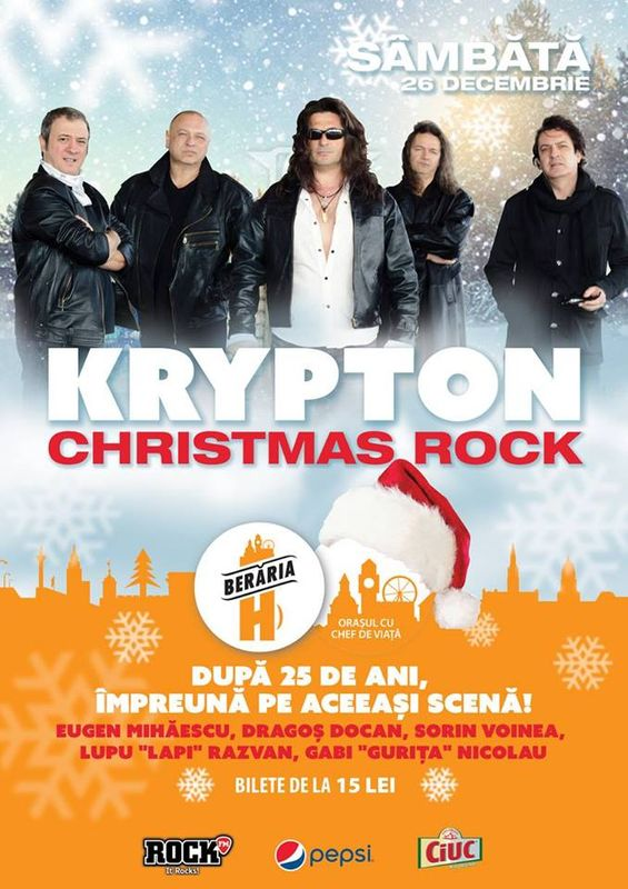 Afiş Krypton Christmas Rock la Berăria H 2015