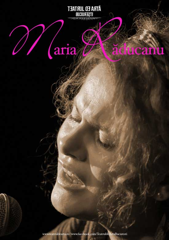 Afiş Maria Raducanu Concert Teatrul de Arta 2015