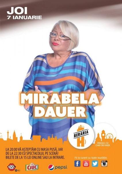 Afiş Mirabela Dauer concert la Berăria H 2016