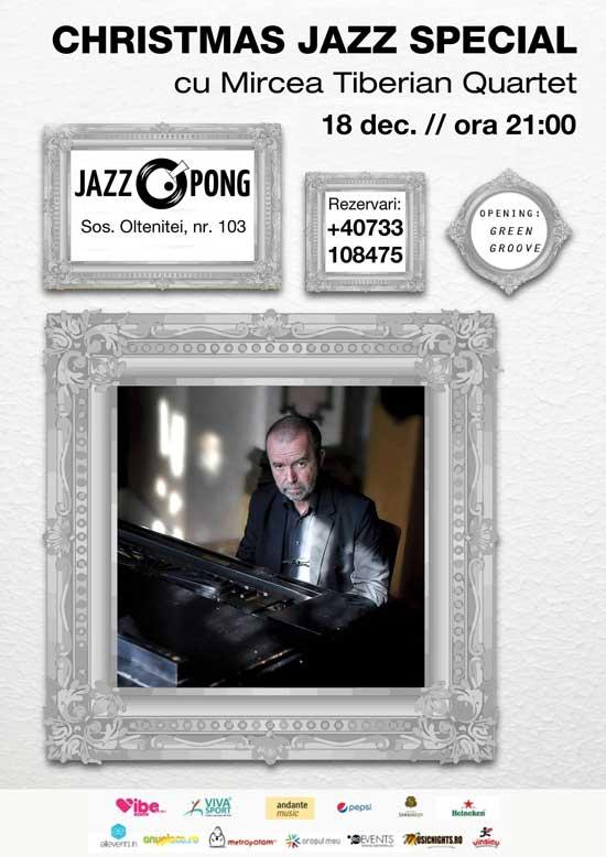 Afiș Mircea Tiberian Concert Jazz Pong 2015