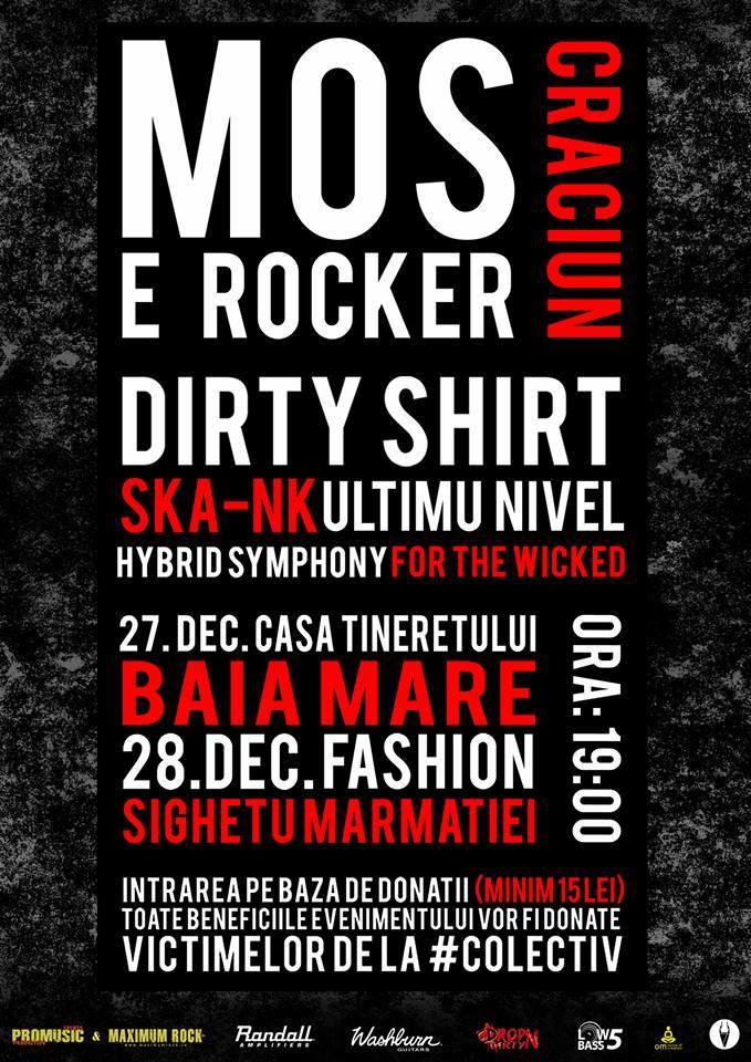 Afiș Moș Crăciun e Rocker 2015