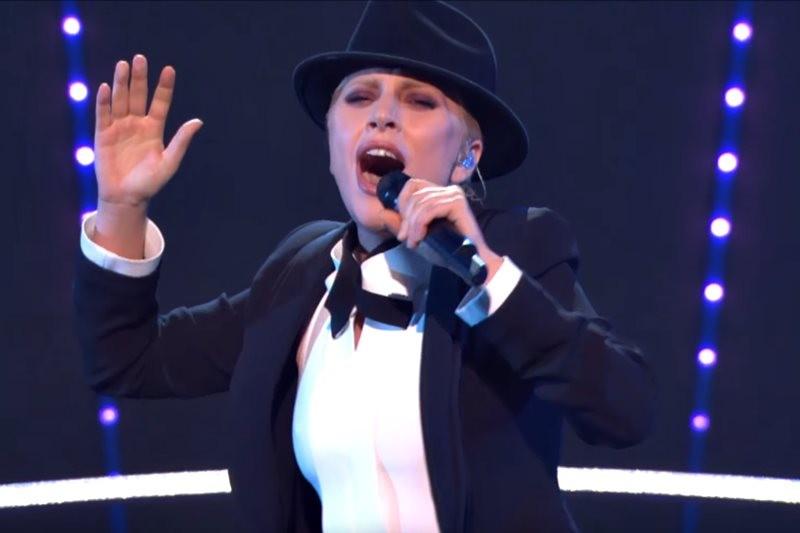 Lady Gaga la concertul tribut Frank Sinatra