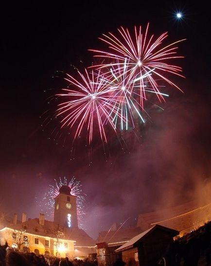 Revelion 2016 în Piața Mare din Sibiu