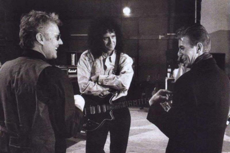 Roger Taylor, Brian May, David Bowie
