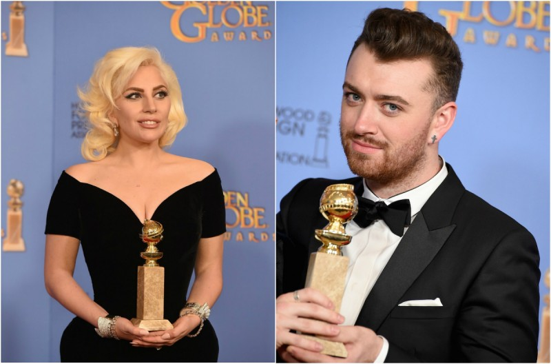 Lady Gaga și Sam Smith la Globurile de Aur