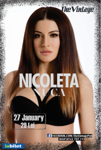 Afiș Nicoleta Nucă Concert The Vintage Pub 2016