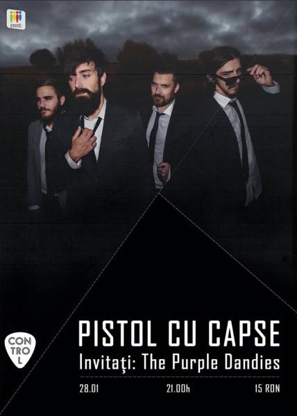 Afiş Pistol cu Capse concert Control 2016