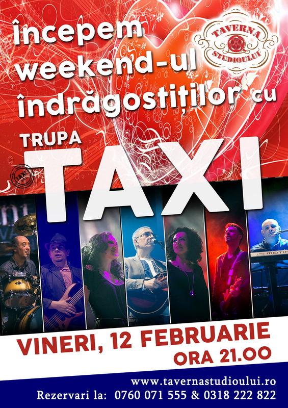 Afiș Taxi Concert Taverna Studioului Buftea 2016