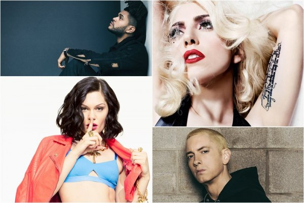 Jessie J / Lady Gaga / Eminem / The Weeknd