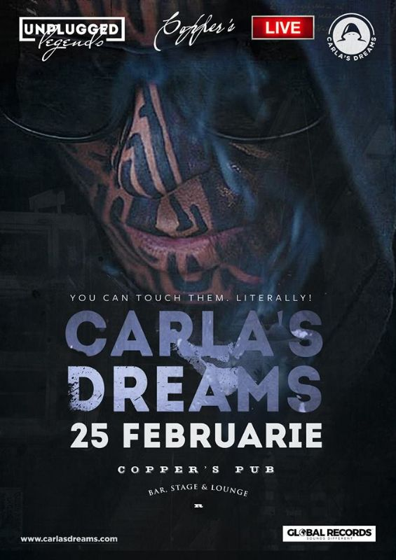Afiș Carla's Dreams Concert Copper's Pub 2016