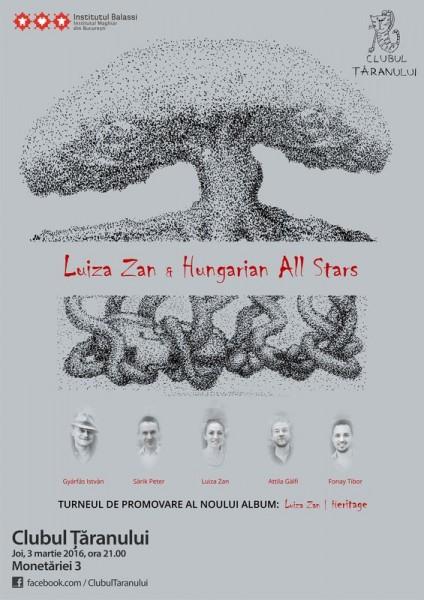Poster eveniment Luiza Zan & Hungarian All Stars