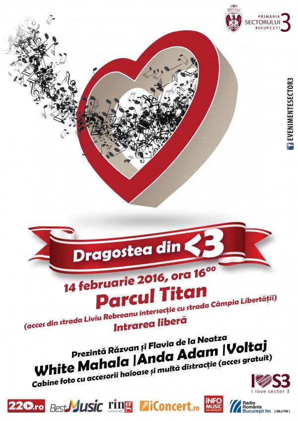 Concert de Ziua Îndrăgostiților la Parcul Titan