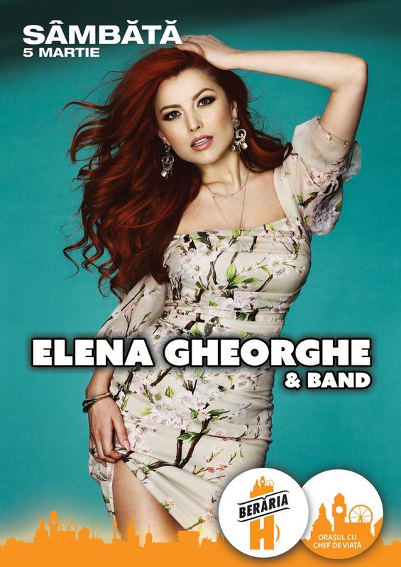 Afiş Elena Gheorghe Concert Berăria H 2016