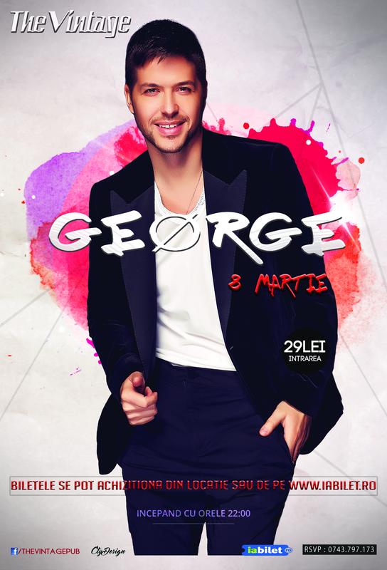 Afiş George Concert Vintage Pub 2016