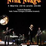 Afiș Nina Neagu Concert Teatrul Bulandra 2016