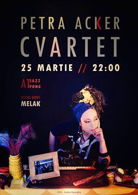 Afiş Petra Acker Cvartet concert Jazz Pong 2016