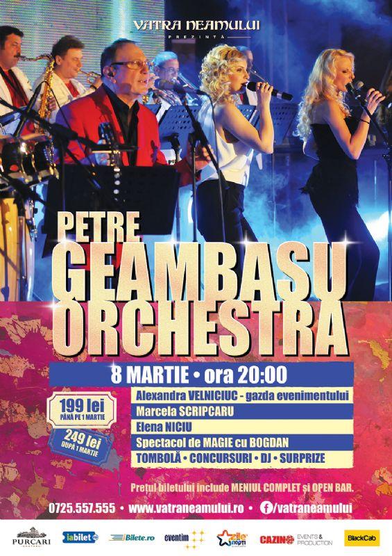 Afiş Petre Geambasu Orchestra Concert 8 Martie 2016