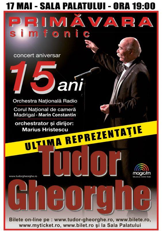 Afiș Tudor Gheorghe Concert Sala Palatului 2016