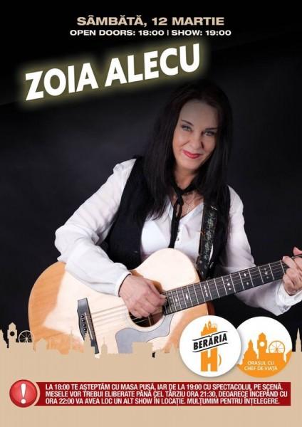 Afiș Zoia Alecu Concert Beraria H 2016