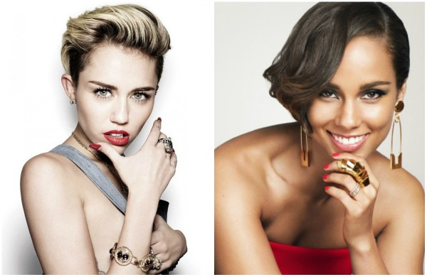 Miley Cyrus and Alicia Keys