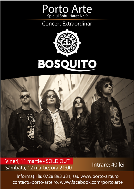 Afiș Bosquito Concert Porto Arte 2016