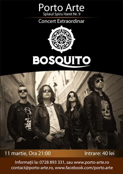 Afis Bosquito Concert Porto Arte 2016