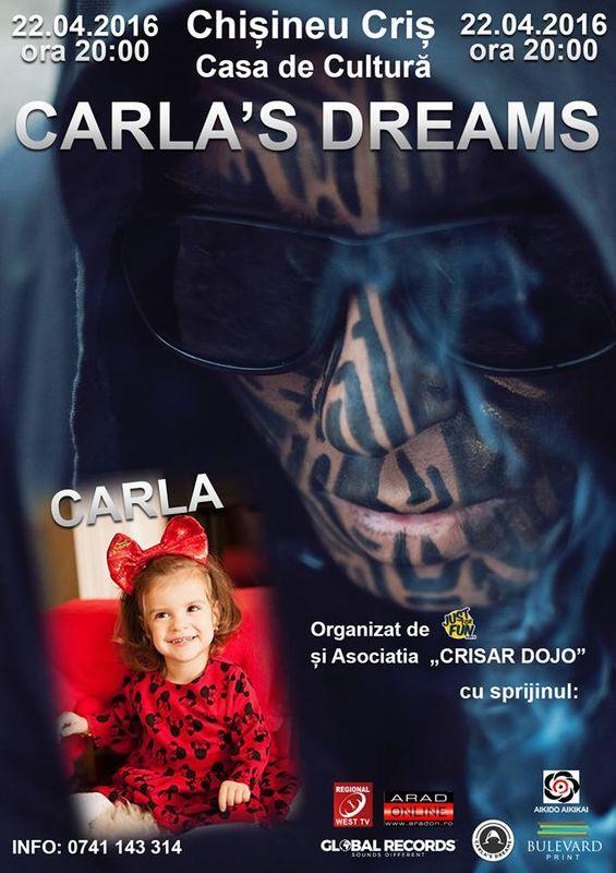 Afiș Carla's Dreams Concert Chișineu Criș 2016
